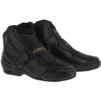 Alpinestars Stella SMX-1R Ladies Motorcycle Boots (Black/White/Gold)