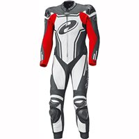 Held Rush One Piece Motorcycle Leathers 5714 (Black/White/Red)