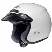 Shoei RJ Platinum-R Open Faced Helmet (White)