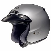 Shoei RJ Platinum-R Open Faced Helmet (Silver)