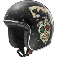 LS2 OF583 TATTOO Open Faced Helmet (Gloss Black)