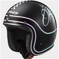 LS2 OF583 Rusty Open Faced Helmet (Gloss Black)