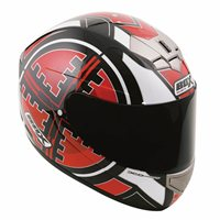 Box BX-1 Scope Full Face Helmet (Red)