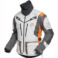 Rukka Orivesi Gore-Tex Motorcycle Jacket (White/Orange)