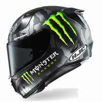 HJC RPHA 11 Monster Energy Helmet (Black Grey) e2537076ea2