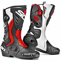 Sidi ROARR Motorcycle Boots (Black/ Flo Red / White)