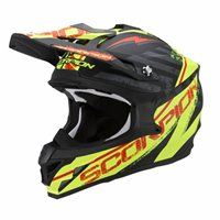 Scorpion Exo VX-15 Gamma Moto-X Helmet (Black/Yellow)
