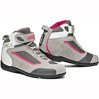 Sidi Gas Ladies Motorcycle Boots (Grey/Pink)