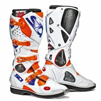 Sidi Crossfire 2 SRS Motocross Boots (Orange Fluo/White)