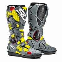 Sidi Crossfire 2 SRS Motocross Boots (Yellow Fluo/Grey)