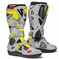 Sidi Crossfire 3 SRS Motocross Boots (Black/Ash/Fluo Yellow)