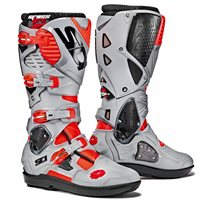 Sidi Crossfire 3 SRS Motocross Boots (Flo Red/Ash)