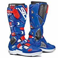 Sidi Crossfire 3 SRS Motocross Boots (White/Blue/Fluo Red)