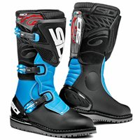 Sidi Trial Zero 1 Off-Road Motorcycle Boots (Black/Light Blue)