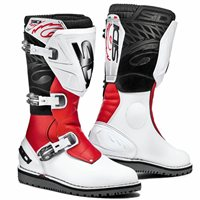Sidi Trial Zero 1 Off-Road Motorcycle Boots (White/Red)