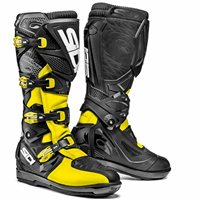 Sidi X3 Xtreme SRS Motocross Boots (Black/Fluo Yellow)