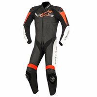 Alpinestars Challenger v2 One Piece Leathers (Black/White/ Fluo Red)