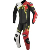Alpinestars GP Plus One Piece Leathers (Black/White/Red/Yellow)