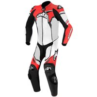 Alpinestars GP Plus One Piece Leathers (White/Black/Fluo Red)