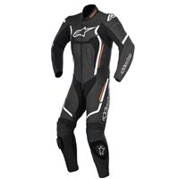 Alpinestars Motegi v2 One Piece Leathers  (Black/White/Flo Red)