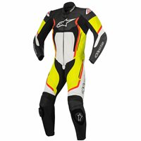 Alpinestars Motegi v2 One Piece Leathers (Black/White/Yellow/Red)