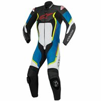 Alpinestars Motegi v2 One Piece Leathers (White/Blue/Yellow)