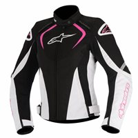 Alpinestars Stella T-Jaws WP Ladies Jacket (Black/White/Fuchsia)