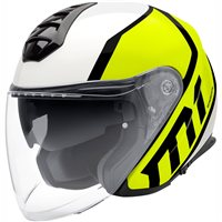 Schuberth M1 Flux Yellow Open Faced Helmet