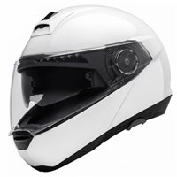 Schuberth C4 Flip Front Motorcycle Helmet (Gloss White)