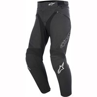 Alpinestars Jagg Leather Motorcycle Trousers (Black)