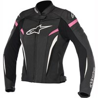 Alpinestars Stella GP-Plus R v2 Womens Leather Jacket (Black/White/Fuchisa)