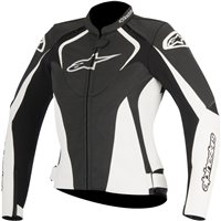 Alpinestars Stella Jaws Ladies Leather Jacket (Black/White)