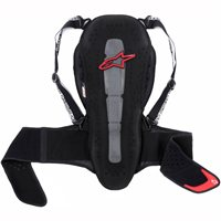Alpinestars Nucleon KR-2 Adventure Touring Back Protector (Black/Red)
