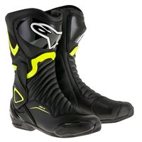 Alpinestars SMX-6 v2 Motorcycle Boot (Black/Fluo Yellow)