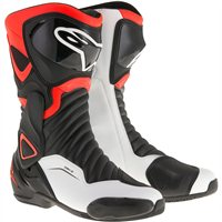 Alpinestars SMX-6 v2 Motorcycle Boot (Black/Fluo Red/White)