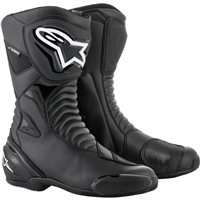 Alpinestars SMX-S Waterproof Motorcycle Boot (Black)