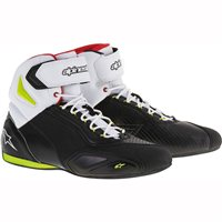 Alpinestars Faster 2 Motorcycle 2 Shoe (Black/Yellow/Red)