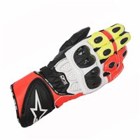 Alpinestars Gp Plus R Motorcycle Glove (Black/White/Fluo Red)