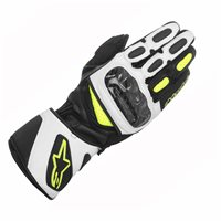 Alpinestars SP-2 Motorcycle Gloves (Black/White/Fluo Yellow)