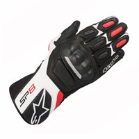 Alpinestars SP-8 v2 Motorcycle Gloves (Black/White/Red)