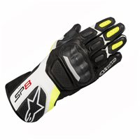 Alpinestars SP-8 v2 Motorcycle Gloves (Black/White/Yellow)