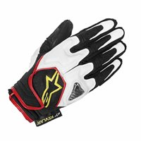 Alpinestars Scheme Kevlar Glove (White/Black/Red)