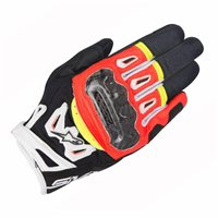 Alpinestars SMX-2 Air Carbon v2 Motorcycle Glove (Black/FloRed/White/Yellow)