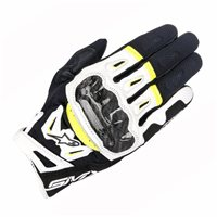 Alpinestars SMX-2 Air Carbon v2 Motorcycle Glove (Black/White/Yellow)