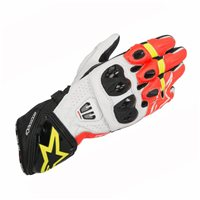 Alpinestars Gp Pro R2 Motorcycle Glove (Black/White/Red/Fluo Yellow)
