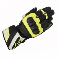 Alpinestars SP-Z Drystar Motorcycle Glove (Black/White/Fluo Yellow)