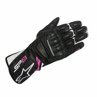 Alpinestars Stella SP-8 v2 Motorsport Gloves (Black/White/Fuchsia)