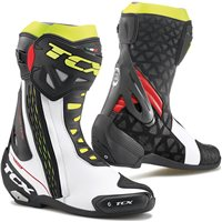 TCX RT-RACE Motorcycle Boot (White/Red/Fluo Yellow)