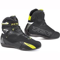 TCX Rush Waterproof Motorcycle Boots (Back/Fluo Yellow)