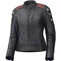 Held Laxy Womens Leather Motorcycle Jacket (Black)
